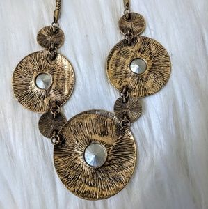 Jewelry - Antique Brass-Look Statement Necklace